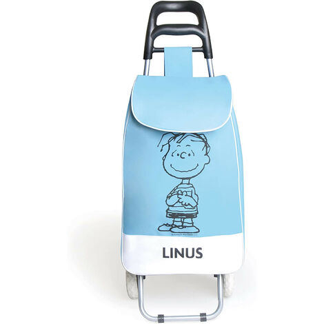 Carrello Spesa Peanuts Linus in Tessuto Azzurro 90x34x4 Cm