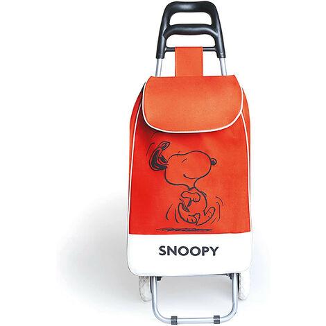Carrello Spesa Peanuts Snoopy in Tessuto Rosso 90x34x4 Cm