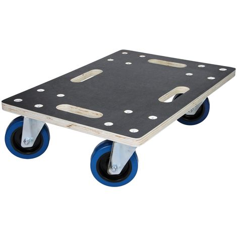 Carrello trasporto mobili elettrodomestici con ruote 35x50 cm portata max. 800kg