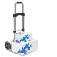 Carrello/trolley con rotelle, portata fino a 60 Kg e con le seguenti misure: HBT 96 x 38 x 37 cm, pieghevole e salvaspazio