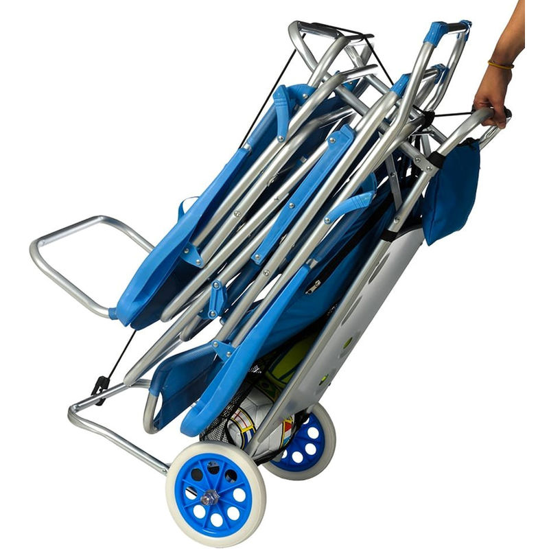 Carrello Porta Sdraio Per Spiaggia.Carrello Trolley Sedia Porta Sedie Trasformabile In Tavolino Spiaggia Campeggio