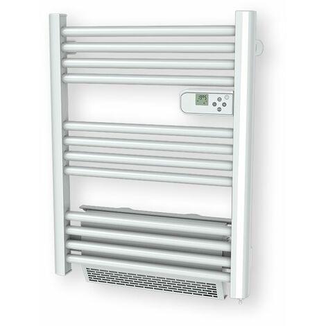 Carrera radiateur sèche-serviette 500W + soufflerie 1000W (1500W) mini tubes ronds blanc LCD