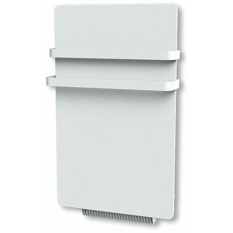 Carrera radiateur sèche-serviette 500W + soufflerie 900W (1400W) verre blanc LCD