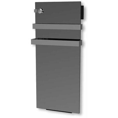 Carrera radiateur sèche-serviette 700W + soufflerie 900W (1600W) verre miroir LCD