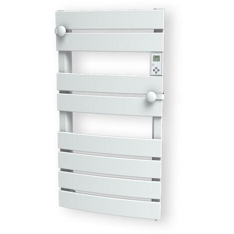 Carrera radiateur sèche-serviette 750W lames plates blanc LCD