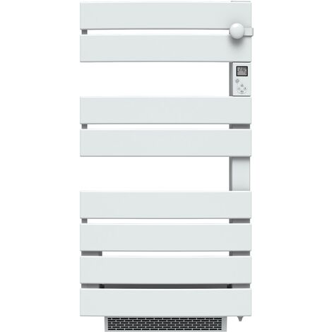 Carrera radiateur sèche-serviette 750W + soufflerie 1000W (1750W) - Lames plates ouverture latérale - Blanc
