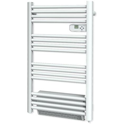Carrera radiateur sèche-serviette + soufflerie tubes ronds blanc LCD - plusieurs puissances disponibles