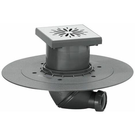 Carrés de plancher point wetroom drain de la douche souterraine 150mmx150mm en acier inoxydable