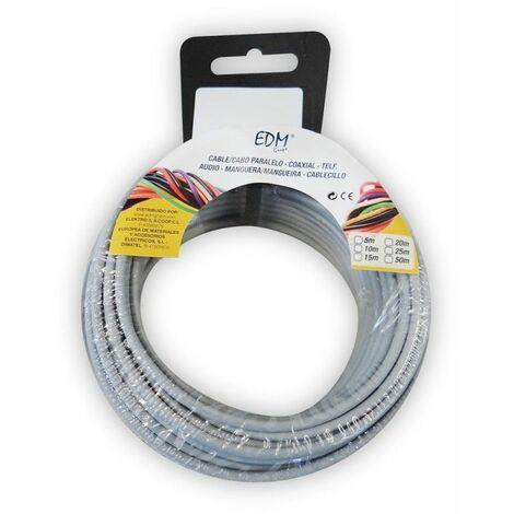 Carrete de cable libre de halógenos 1,5 mm gris 5 mts