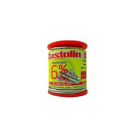 Carrete estaño 6% plata 2,0mm 250gr 3060RTE de Castolín