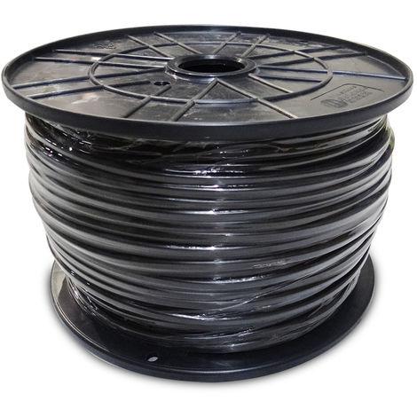 Carrete manguera acrilica 1kw 3x1,5mm negra 200mts (bobina grande)