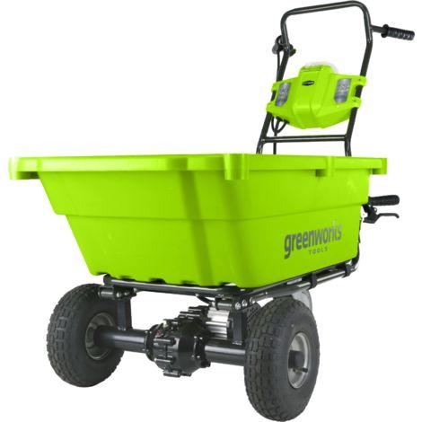 Carretilla a batería Greenworks de 40 V G40GC. Incluye cargador y batería 2AH