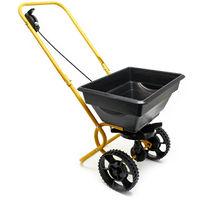 Carretilla de mano para esparcir 20 kg con neumáticos de plástico para semillas de abono