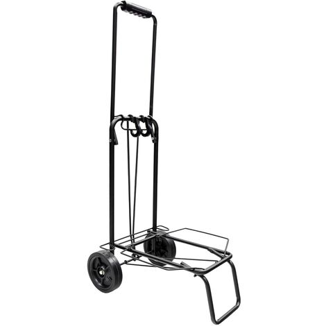 Carretilla plegable metalica de carga - porta maletas con cuerda elastica 93,5x33x44 cm. carro de transporte 50 kg.