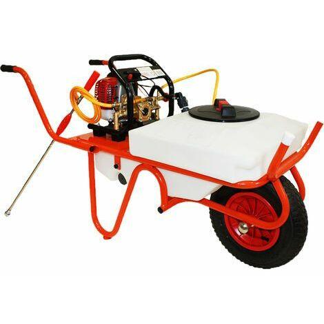 Carretilla Sulfatadora Con Motor a Gasolina 4 Tiempos y Capacidad 50 litros , Con 1 Rueda - Bricoferr