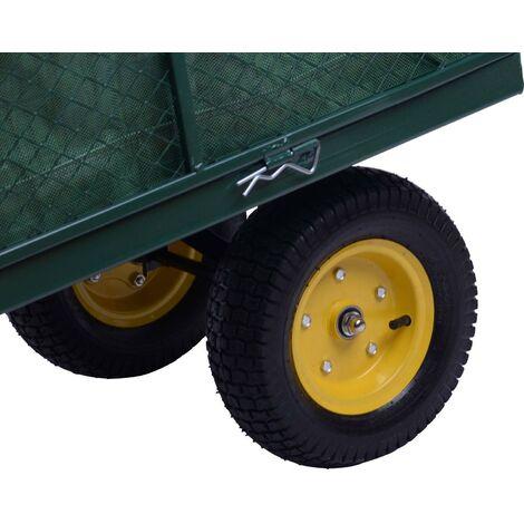 Carretto Carrello A Mano Da Giardinaggio In Acciaio 128x62x84 Cm Miozzi