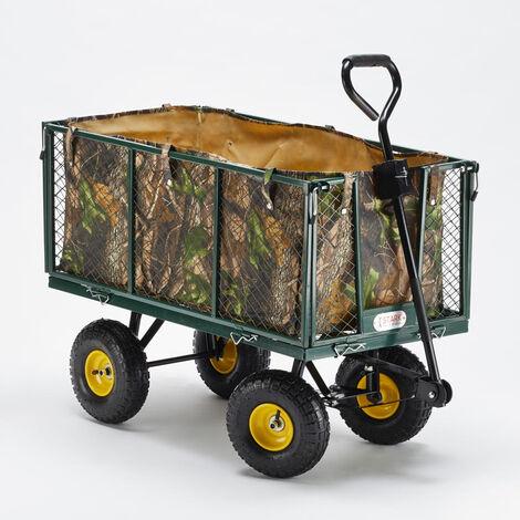 Carretto carrello da giardino per trasporto legna erba 400kg SHIRE