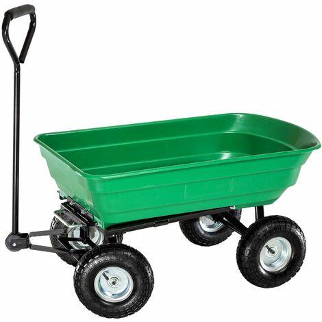 Carretto ribaltabile con vaschetta in plastica max. 300 kg - carretto ribaltabile con vaschetta - verde
