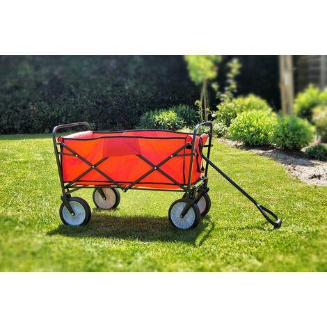 Carretto rosso Carrello per giardino