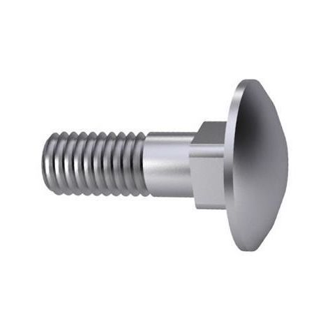 Carriage bolt ISO metric thread DIN 603 Steel Hot dip galvanized 8.8 ISO metric