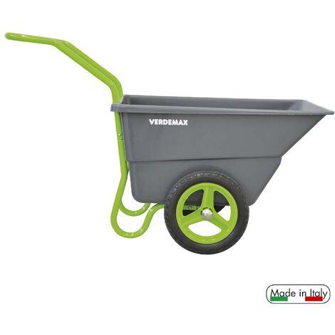 Carriola da giardino litri 110 con ruote in EVA semi pneumatiche - Made in Italy