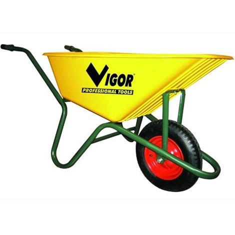 Carriola Vigor 100-Gialla Vasca Gialla Plastic Lt. 100