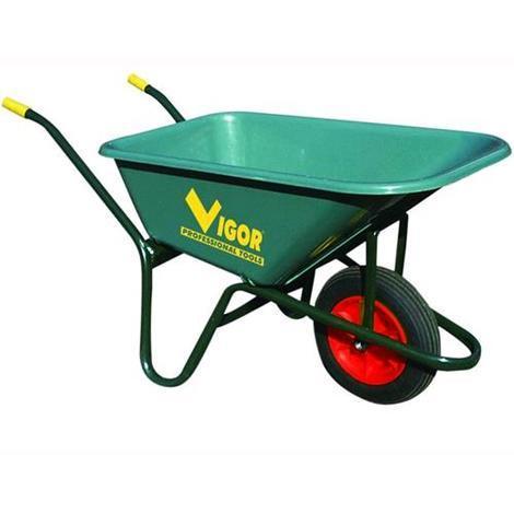 Carriole Vigor 100-Verde Vasca Verde Plastic Lt. 100