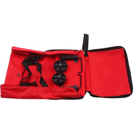 Carrito de la compra plegable bolsa de viaje con ruedas plegable cesta de la compra plegable reutilizable de comestibles y Bolsas, Rojo