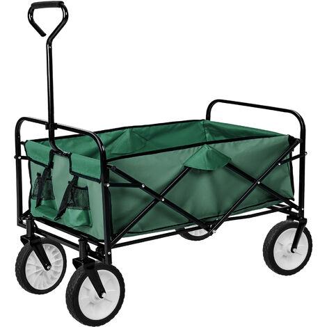 Carrito de mano plegable - carretilla de mano para jardín, carro con mango para transporte manual, carretilla de transporte de acero