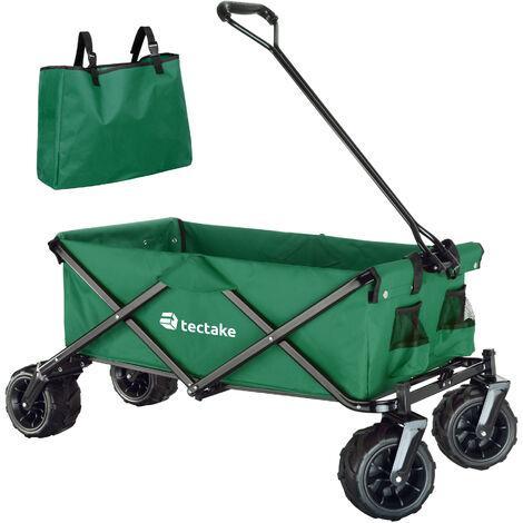 Carrito de mano plegable Heidrun - carretilla de mano para jardín, carro con mango para transporte manual, carretilla de transporte de acero