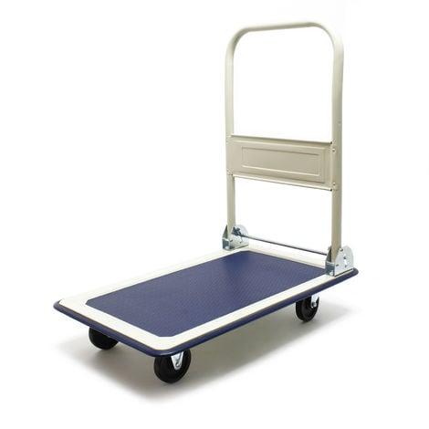 Carrito plataforma 300kg Transporte Manual Plegable Carretilla Plataforma carga Almacén Taller Casa