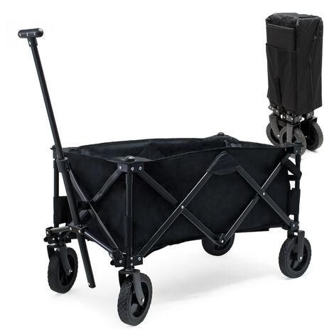 Carrito plegable de mano con funda protectora, ruedas plástico y asa Carro transporte Carrito jardín
