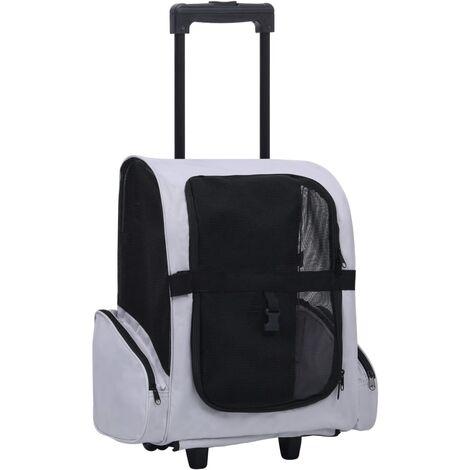 Carrito trolley plegable multiusos para mascotas gris - Gris