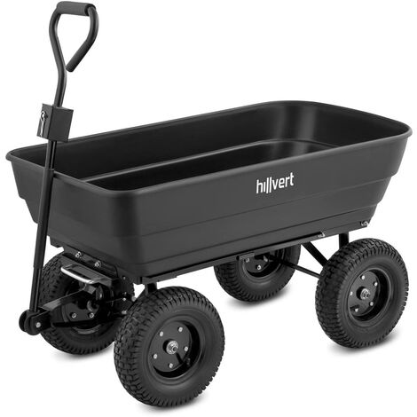 Carro de jardín - 350 kg - basculante - 125 L