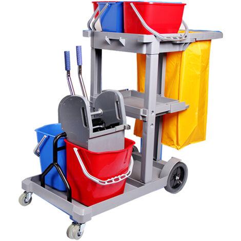 Carro de limpieza Zafir con cubo doble Color Carro Zafir Gris