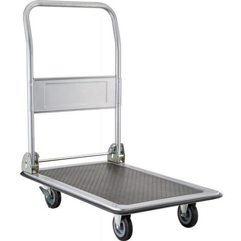 Carro de plataforma con asa plegable 150 kg 740x470 mm