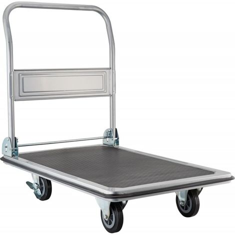 Carro de plataforma con asa plegable 250 kg 920x610 mm