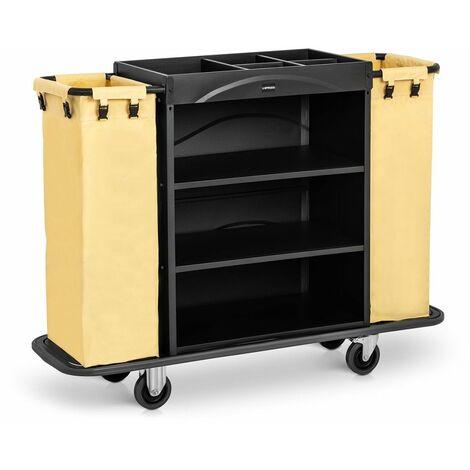 Carro De Servicio Para Hotel Habitaciones Camarera Hostelería 2 Bolsas 150 kg