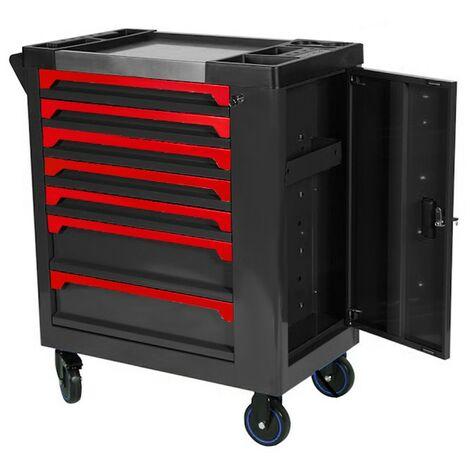 """main image of """"Carro de taller con herramientas ROJO, 7 cajones y modulos en Fibra de carbono"""""""
