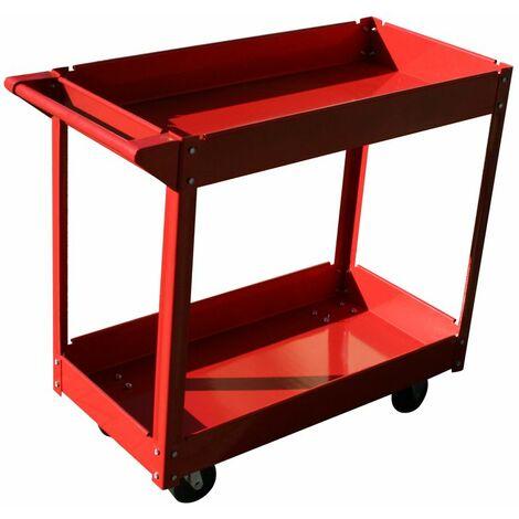 Carro de taller para herramientas Mecánico Carretilla Oragnizador Garaje 2 estantes 100KG