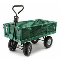 Carro de transporte 300 kg con lona extraíble Carro de mano