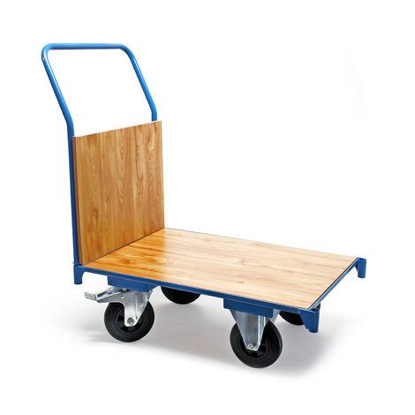 Carro de transporte 74x50cm 180kg Plataforma de carga Frenos y manillar Almacén Oficina Paquetería