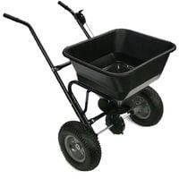 Carro esparcidor 30kg con ruedas neumáticas para semillas de abono salino modelo 2411