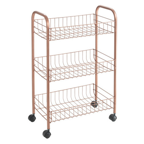 Carro Multiuso 3 Cestas Copper 41X23X63Cm - METALTEX - 3444030000