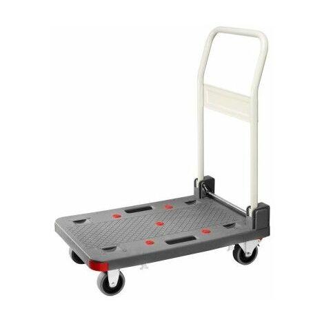 Carro plataforma carriv pp/alum. pleg gom 150kg pt-150p