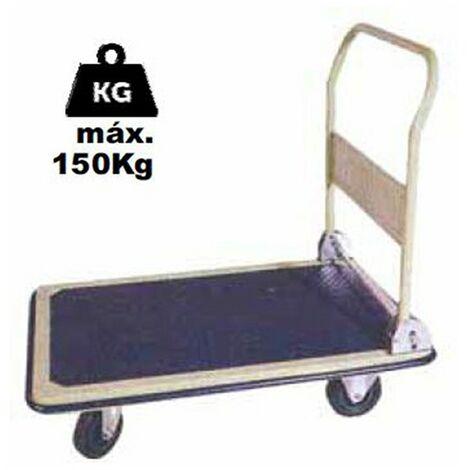 Carro Plataforma Plegable | Carga maxima 150 kg | Carretilla transporte mercancias