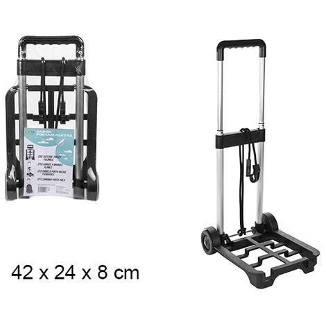 Carro porta maletas / equipaje telescópico. Plegable.