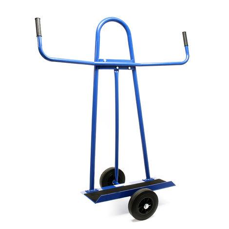 Carro porta paneles hasta 340kg con 2 ruedas de goma maciza para el transporte de objetos grandes