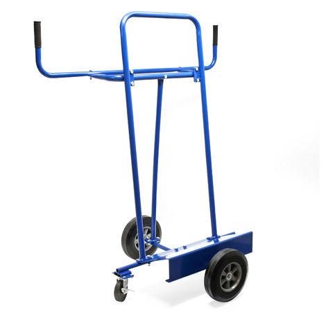 Carro porta paneles hasta 340kg con 4 ruedas de goma maciza para el transporte de objetos grandes