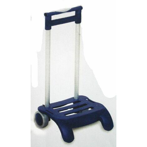 Carro Portamaletas Plegable Rueda/Pvc Aluminio Azul R-142 Devesa